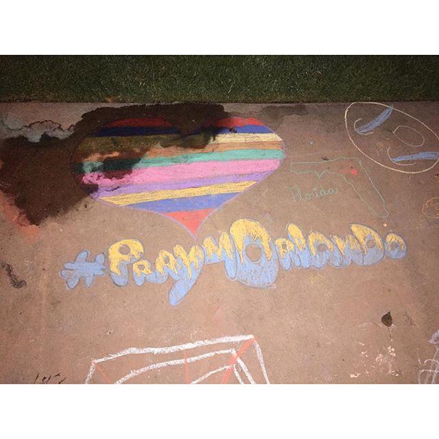 More amazing art from Santa Fe springs art walk #prayfororlando❤️💛💚💜💙