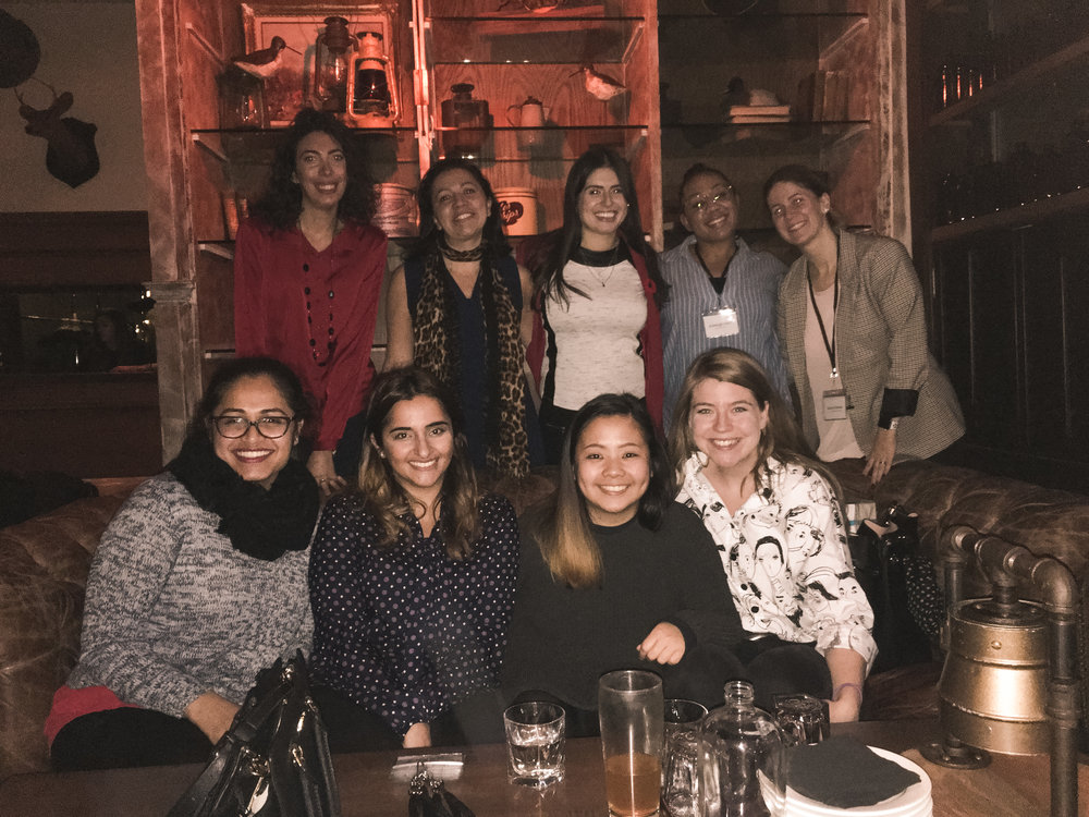Ywib toronto team at the november networking event