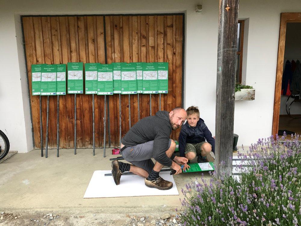 Tafel-Montage: Johan und Caspar Spets