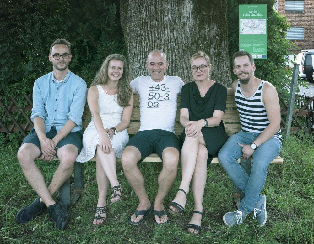 v.l.n.r.: Christian Feurstein, Tanja Schörkl, Ewald Schneider, Isabella Natter-Spets, Philipp Fasser (nicht auf dem Foto: Flo Oberforcher)