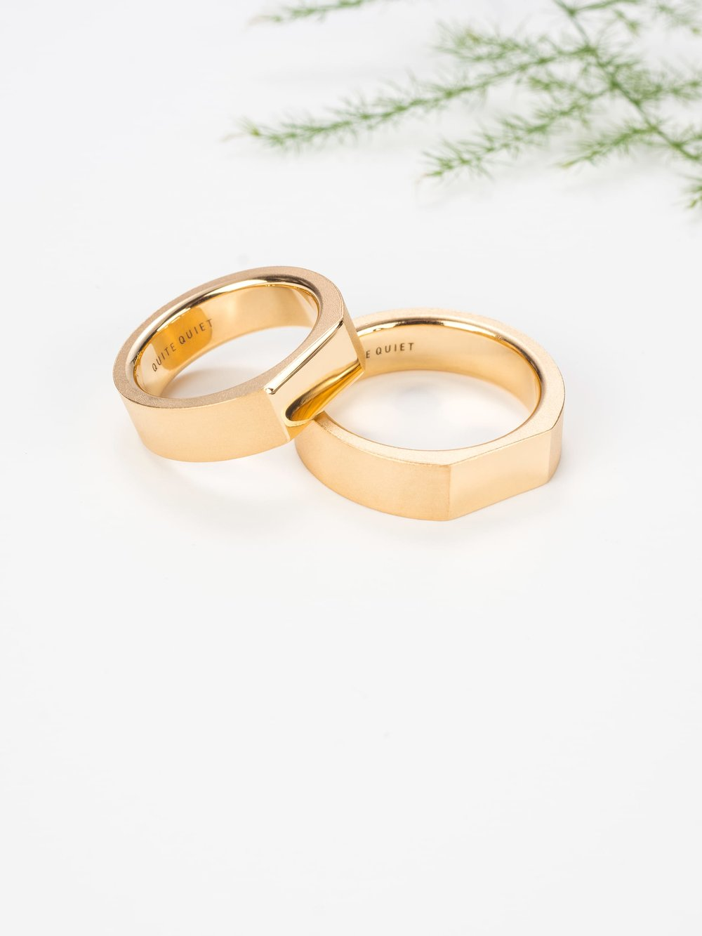 Pair of Wedding Rings No3 Quite Quiet Jewelry