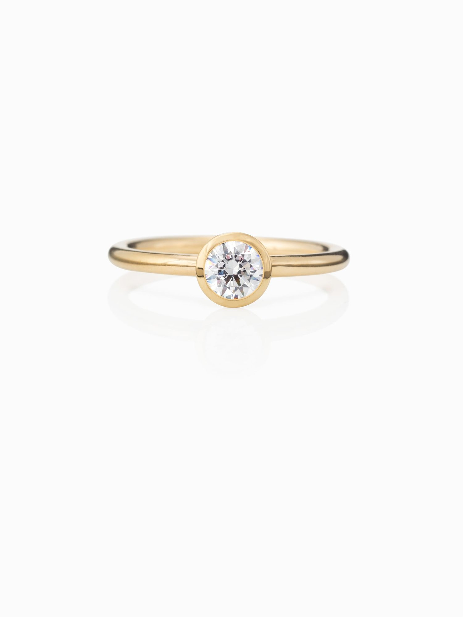 Transitions Ring No 9 Lab Grown Diamond Fairtrade Gold Quite Quiet