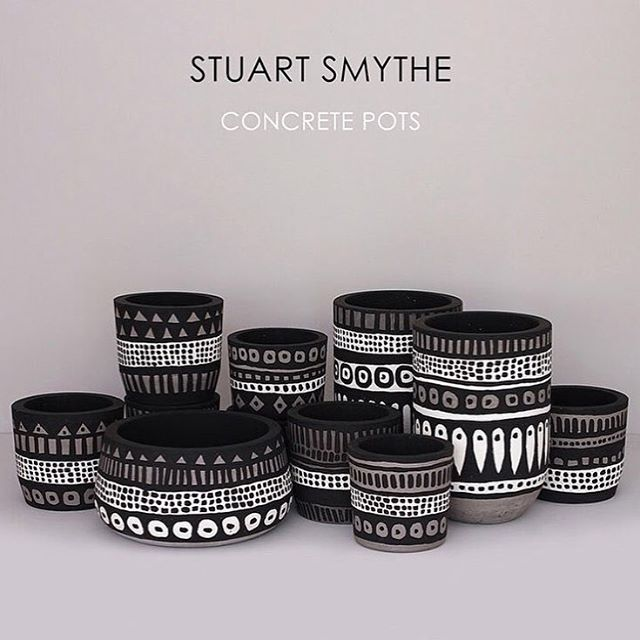We have a few pots left from our @smythe_photo / @slabinteriors colab and will be taking them to the Slab store today if anyone wants to go check them out ⭐️ #paintedpots #stuartsmythe #handpaint #easteditions #baliart
