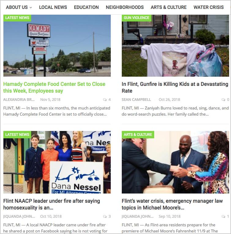 A sample of recent    Flint Beat    stories.