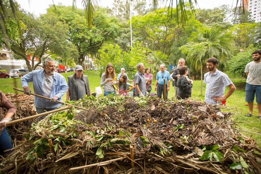 Working towards a more sustainable neighborhood, together: members of Ecobairros, a community-led volunteer group in São Paulo, Brazil, joined forces to revitalize neighborhood springs during the city's worst water crisis in decades.