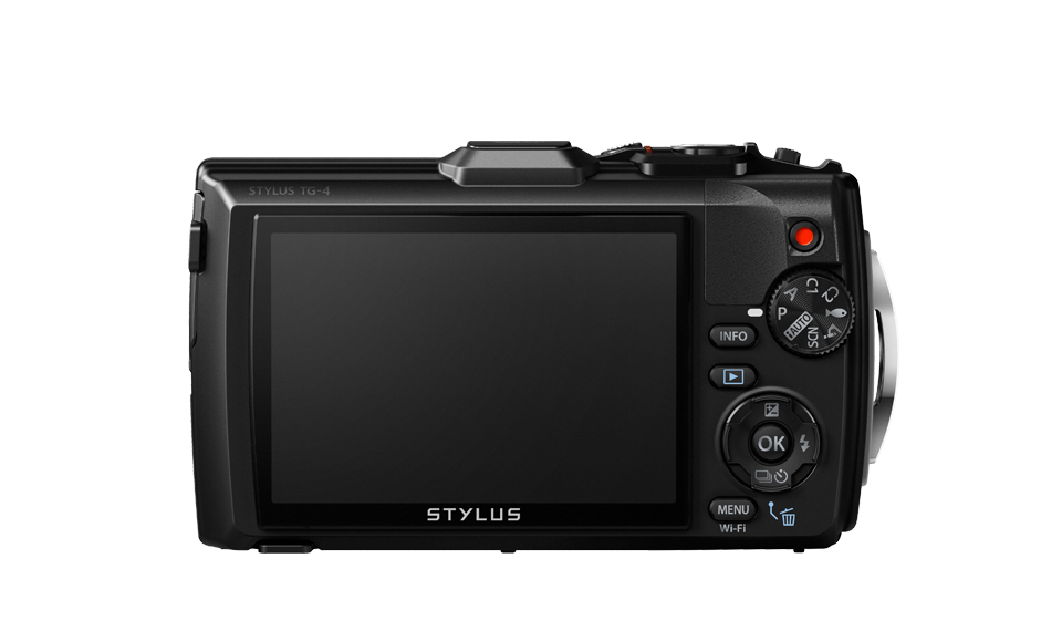 The rear of the camera has a large display screen and easy to use controls.