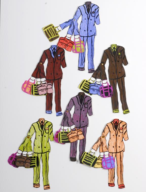 Paper Dolls (Version 2). Screen Prints/Woodcuts. 2007.