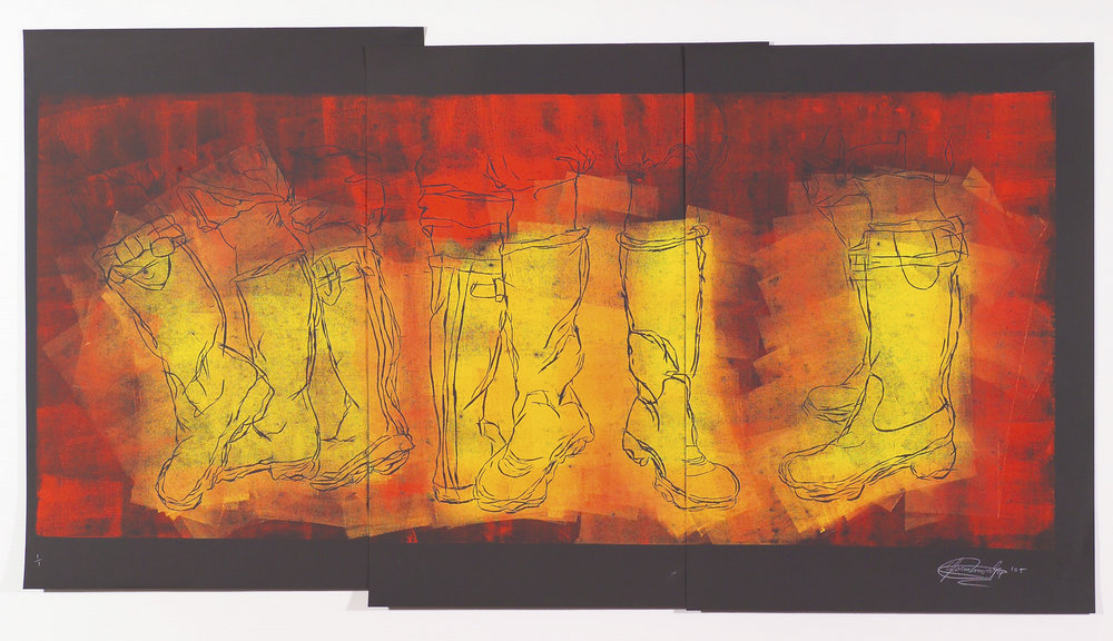 Unititled. Monoprint Woodcut Print. 2005.