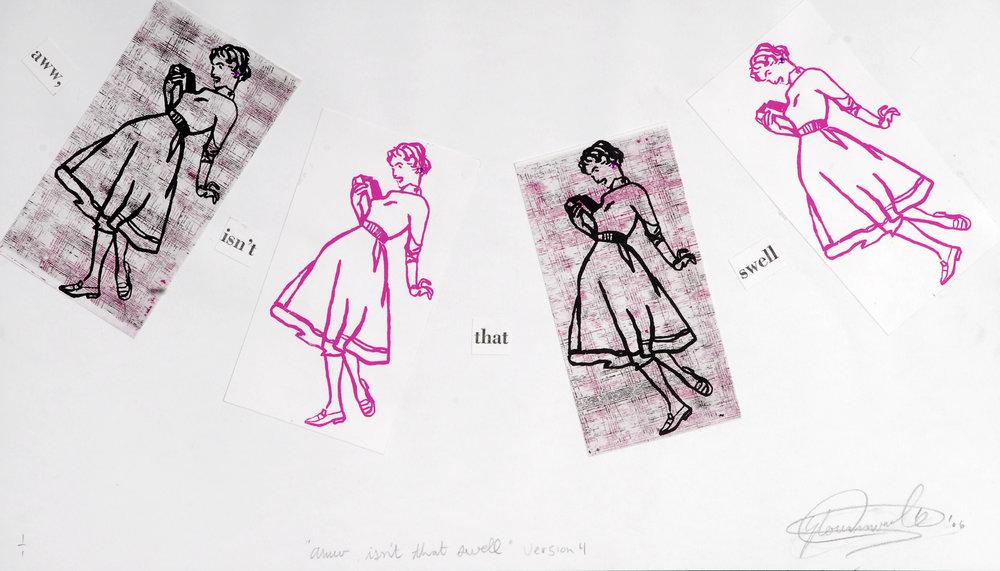 Aww, isn't the swell. Screen print/etching. 2006.