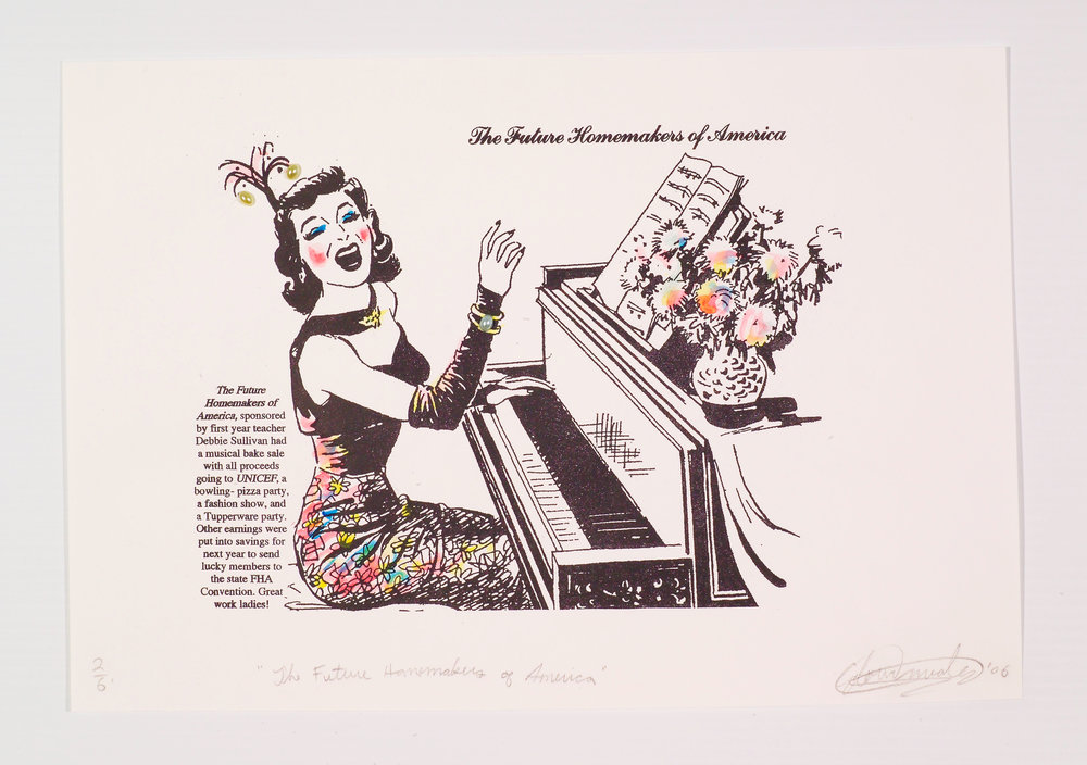 The Future Homemakers of America. Lithograph Print. 2006.