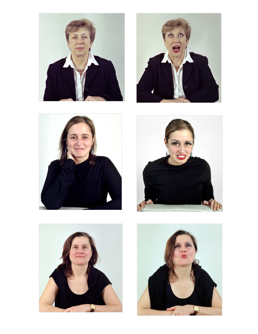 With and Without Makeup Series 1. Chromogenic Colour prints. 2008.