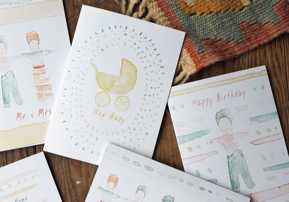 The Don't Worry Be Happy Collection - Greetings cards inspired by Guatemalan Worry Dolls.