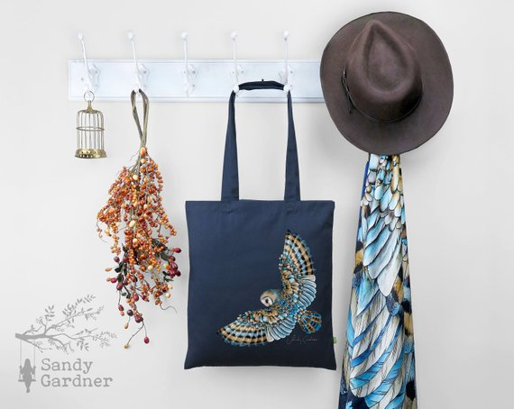 Sandy Gardner - A beautiful collection of scarves and organic cotton tote bags.