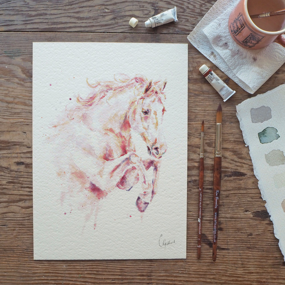 Carla Gebhard Designs - Last and hopefully not least is me! I specialise in custom watercolour paintings, prints and personalised greetings cards. I use vegan friendly paints and paper (not all art products are V.F.) 100% recycled card and just generally recycle as much as I can.