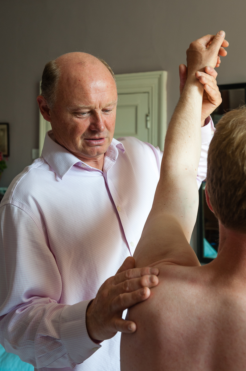 Treating a shoulder injury
