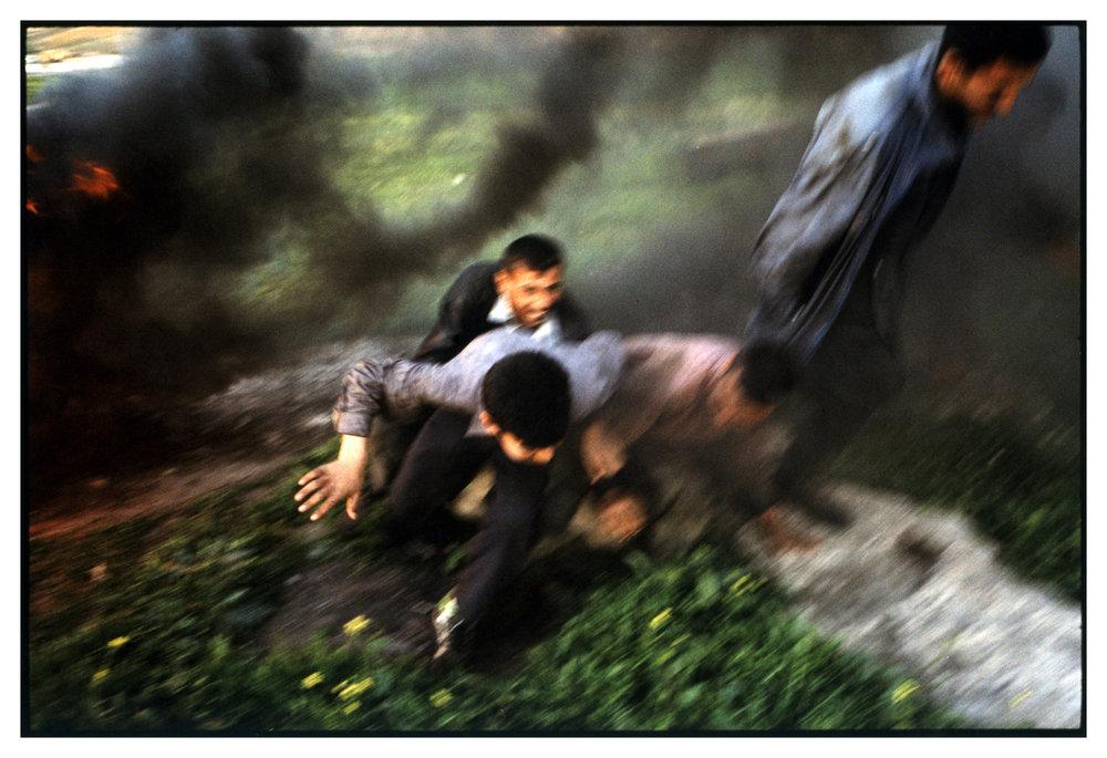 IRAQ 2004, ONE YEAR AFTER  ROAD SIDE EXPLOSION, NORTHERN IRAQStanley Greene / NOOR