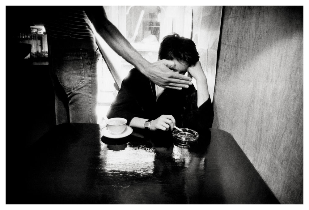 Coffee and cigarettes with my friend, the photographer, Colette Valli, in 1979 in North Beach. Stanley Greene © Noorimages