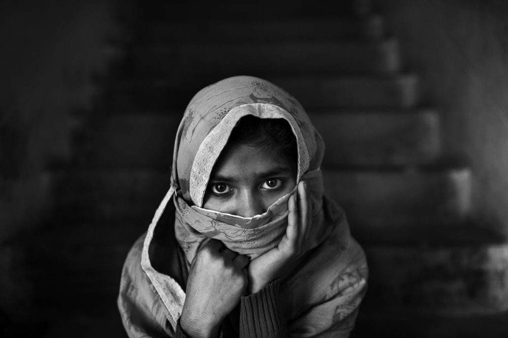 Bangladesh, Rajshahi, January 2013, Tania is a fifteen-year-old girl and lives at Dipalok 3 Drop in Centre, she arrived here when she was ten years old for training. When Tania was fourteen years old, she was forced to marry a twenty-one year old man with mental problems.