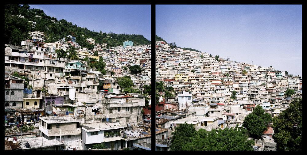 Haiti,Port-au-Prince, July 2016. One of the neighborhood in Port Au Prince.