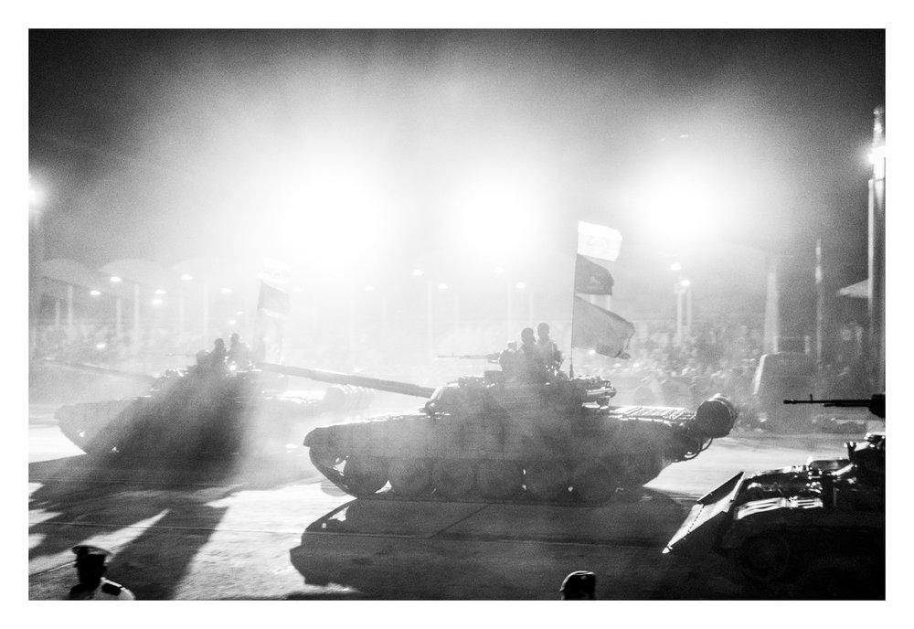 CARACAS, VENEZUELA - APRIL 2013: Tanks during the Venezuelan Independence Day celebrations at the Paseo de los Pr�es de la Patria. The same day Nicolas Maduro was named the president of the country.