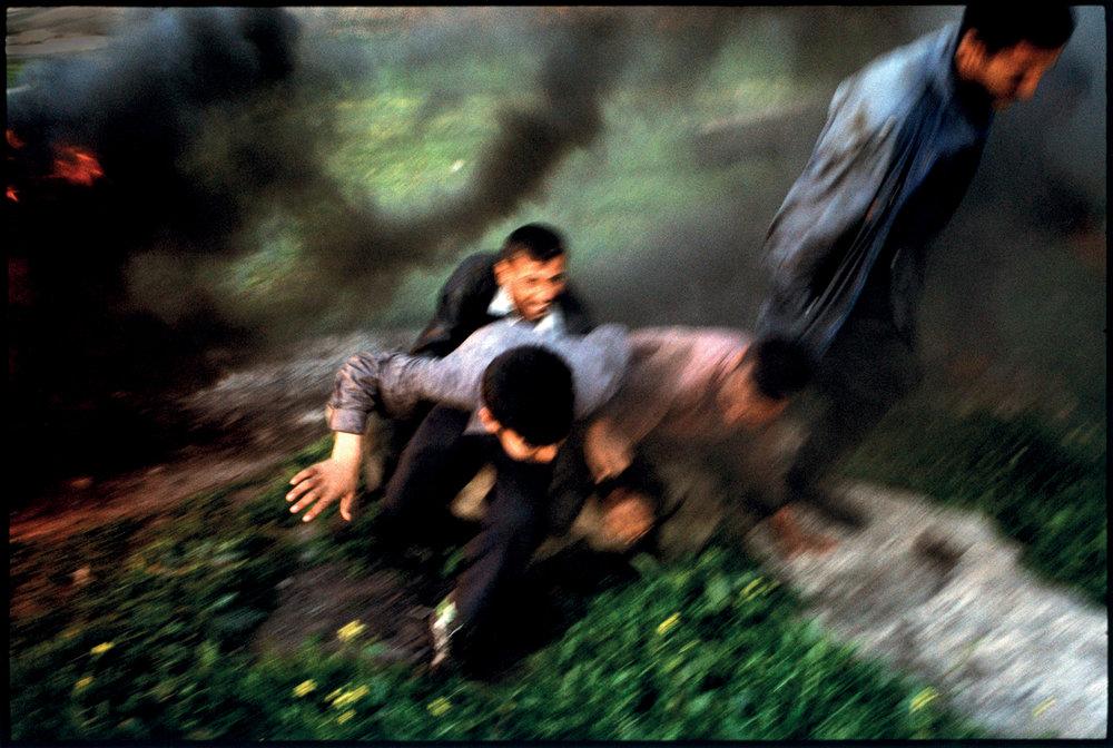 Iraq, 2004, Road side explosion, Northern Iraq.