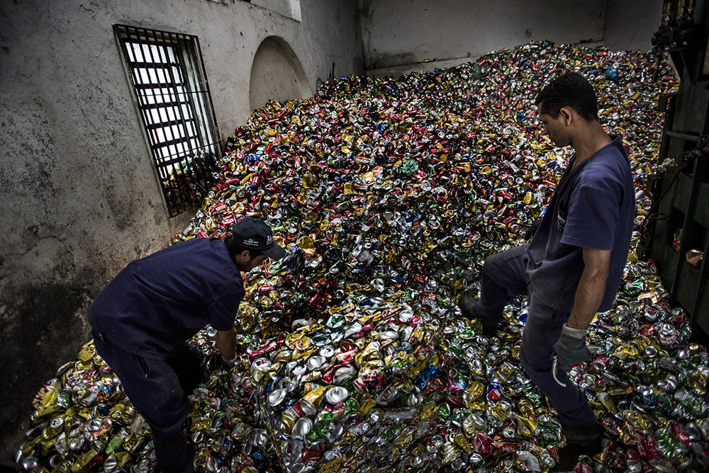 Brazil, São Paulo, 29 November 2016Master is a can recycling and sorting facility since 30 years, a family business. Before they did iron as well, but nowadays only aluminium (cans). They process around 30 tons a month.Kadir van Lohuizen / NOOR