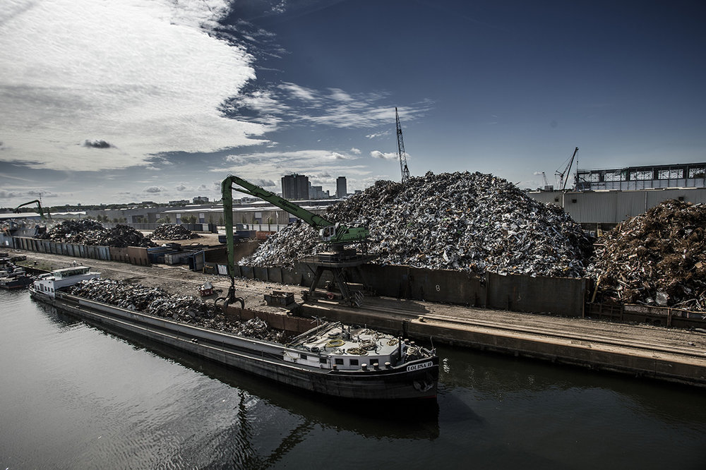 Netherlands, Amsterdam, 03 July 2017HKS in Amsterdam is a metal and non metal recycling - exporting company, one of the larger ones in Europe. Most of the metals are for export. Around 750.000 tons / year of metals comes from the region of Amsterdam.Kadir van Lohuizen / NOOR