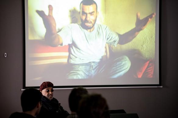 Stanley Greene presenting his work. Photo: Marko Rupena / Kamerades