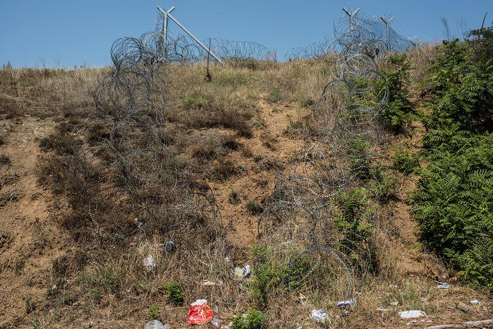 border fence between Greece and Macedonia
