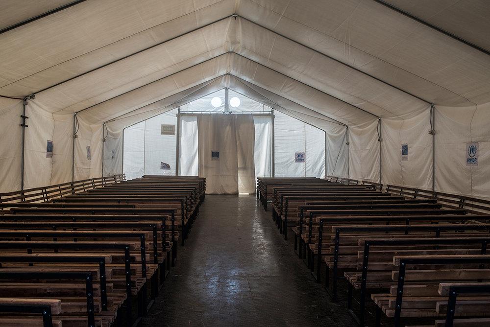 UNHCR tent in Gevgelija