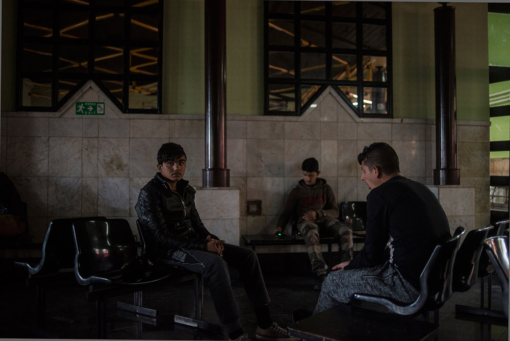 Refugees in Subotica train station