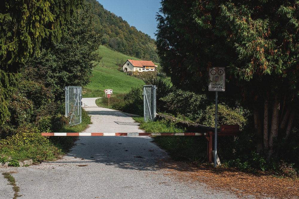 Border gate between Slovenia and Croatia