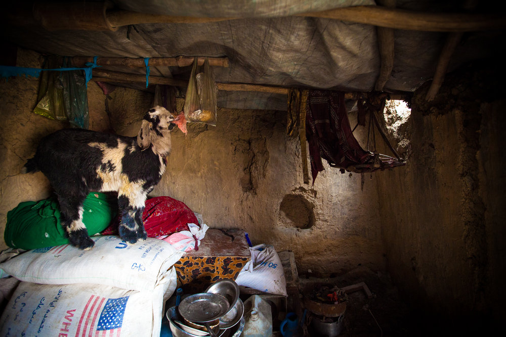 Space in the camp is limited with no access to electricity, sewage system nor running water.