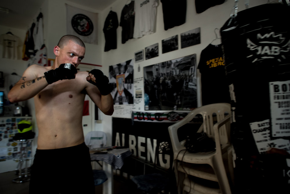 Alberto is training and getting prepared for potential fights.