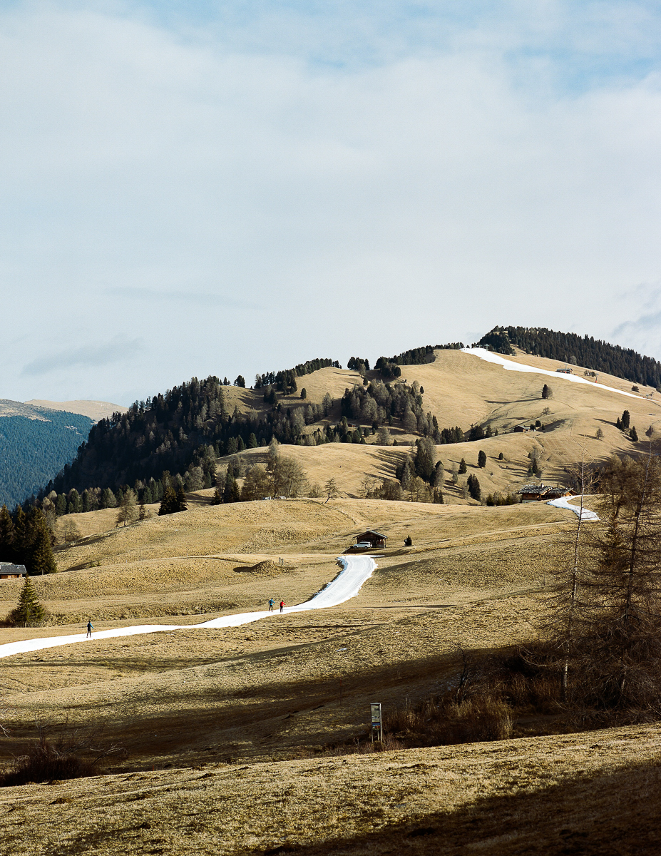 Cross-country track. Seiser Alm, Italy. 12/2016.