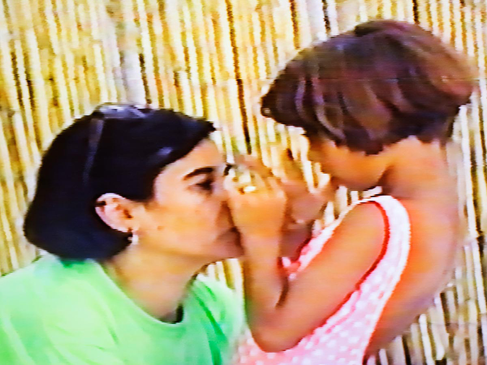 Me and mum, screenshot from family video (1992)