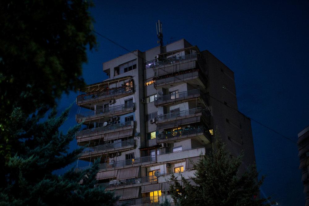 A building in Tiraa, Albania.