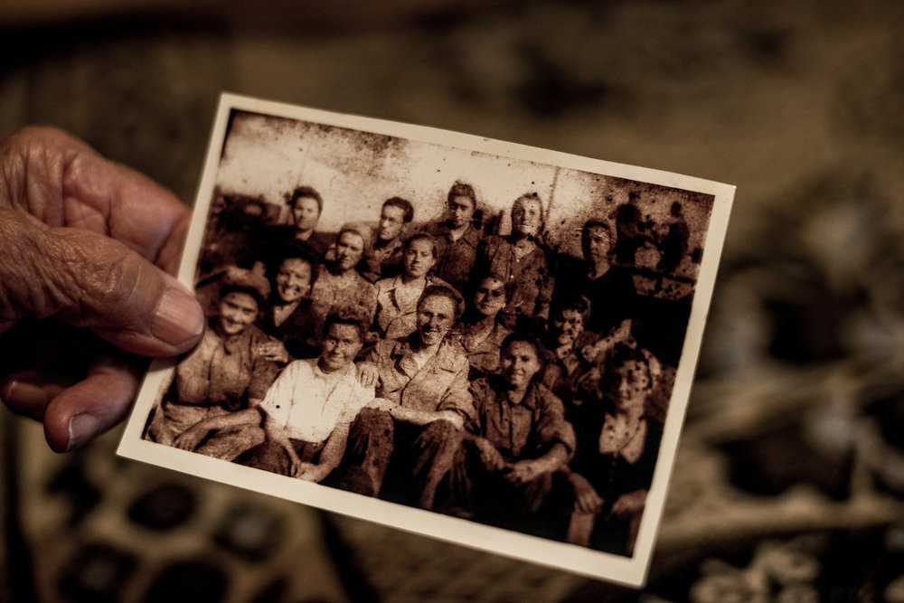 'In the beginning, we didn't even have a well. We had to dig it ourselves. We have also constructed the baths. On our day off. The mess hall was also built by us, bringing the stones one by one to a designated location. Before that we washed ourselves in the stream on the way home: covered in coal dust and soot, in lice and dirt. '