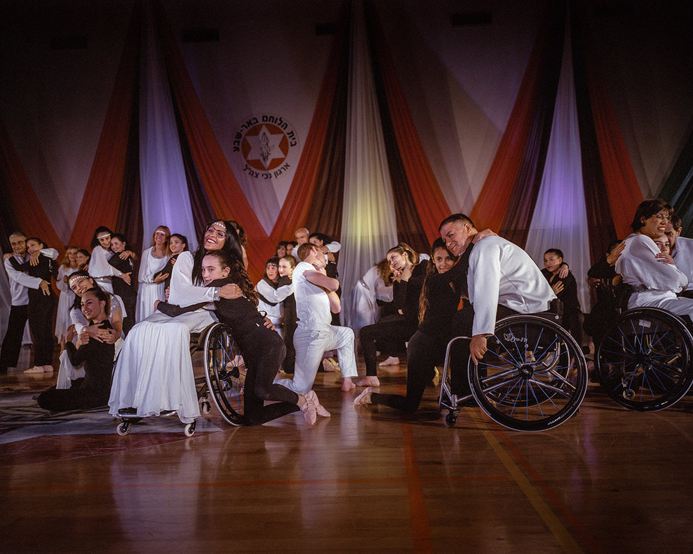 6. Dezember 2015. Beersheba, Israel. Tanzauffuehrung mit kriegsinvaliden Rollstuhlfahrern.Engl.: December 6, 2015; Beersheba, Israel. Dance performance with disabled war veterans in wheelchairs.