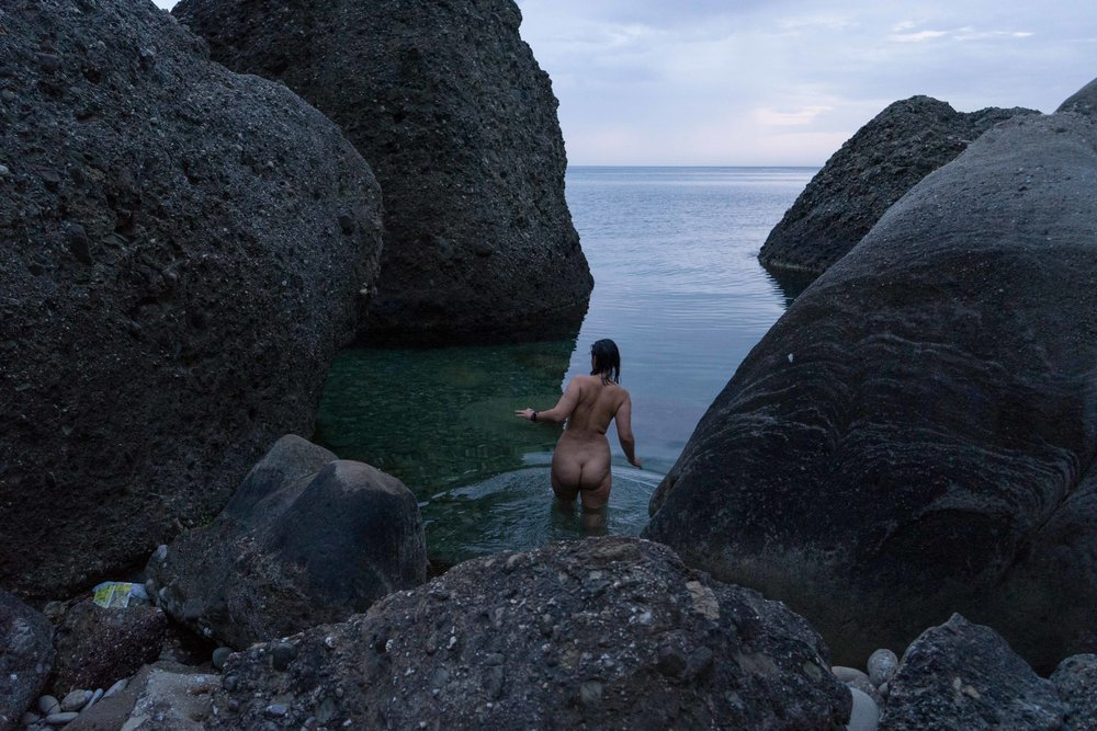 Wild beach at Cape Meganom, Sudak, Crimea