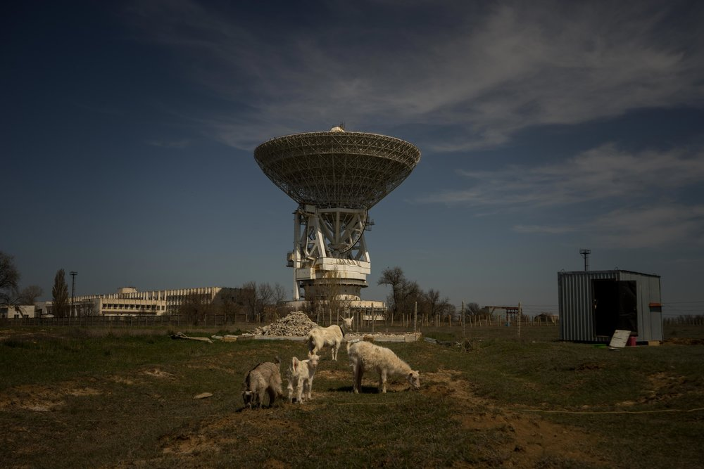 The center of the Far Space Communication wherefrom was the management of the first manned flights into space during Soviet times, Yevpatoria, Crimea