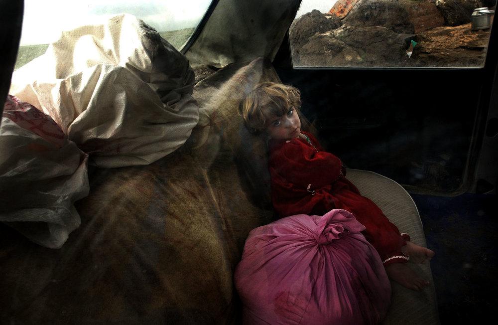 Iraq, March 2003, Iraqi refugees.