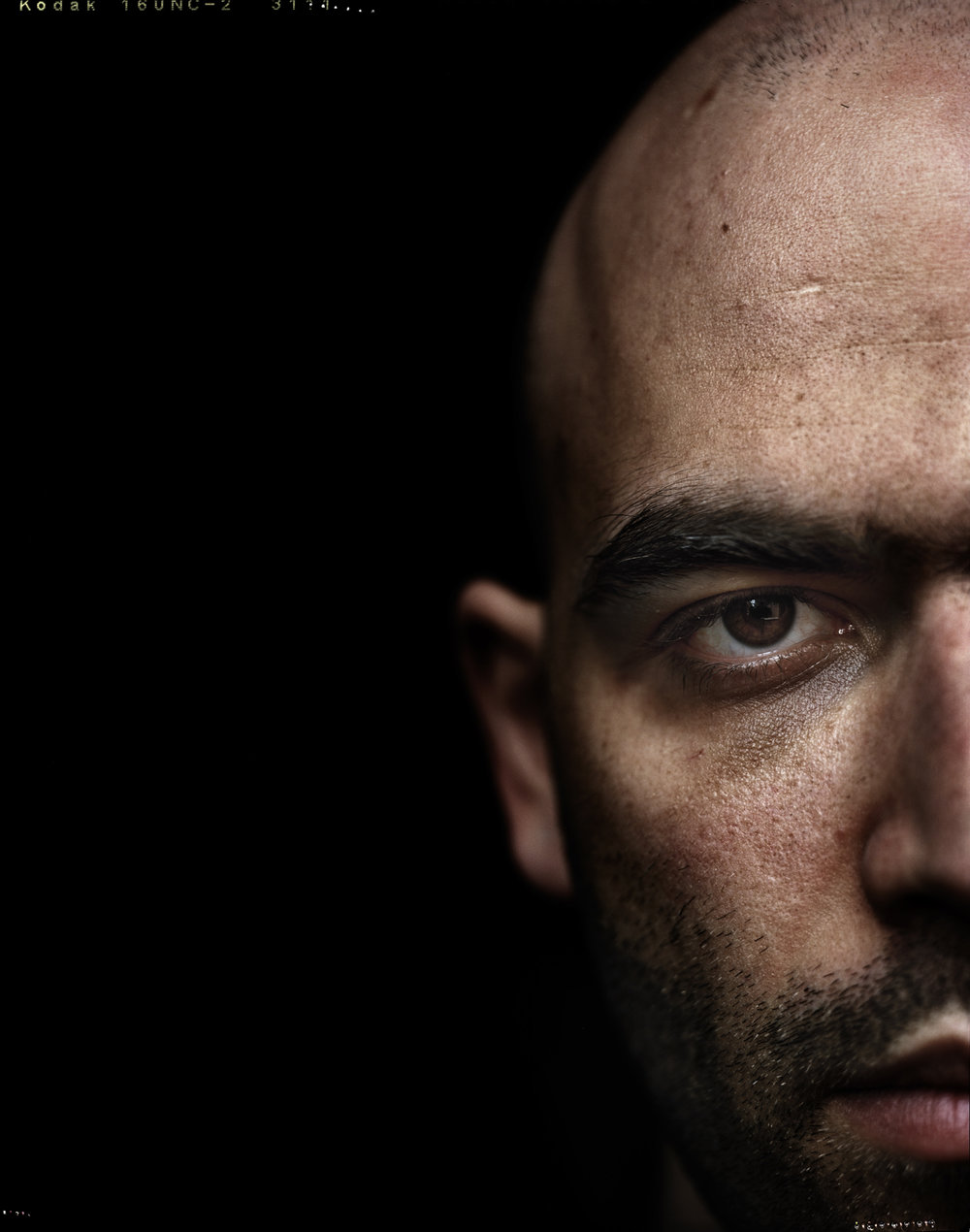 """Rome, 04 March 2009.The italian writer Roberto Saviano, 30 years old, author of the best-seller """"Gomorrah""""."""