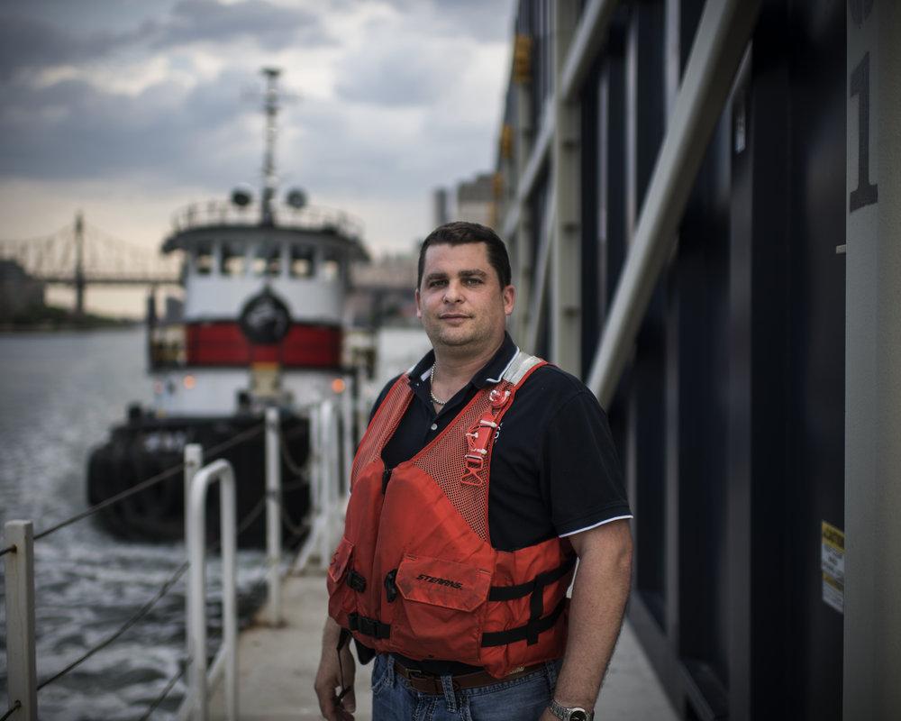 USA, New York, New York City, 23 May 2016Portrait of a barge transport worker.Kadir van Lohuizen / NOOR