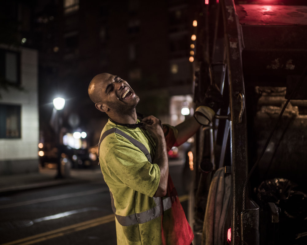 USA, New York, New York City, 24 May 2016Waste being collected in the streets of Manhattan. Some of the bags way 50 kg, which is mainly food waste. Collection is often done by private contractors.Kadir van Lohuizen / NOOR