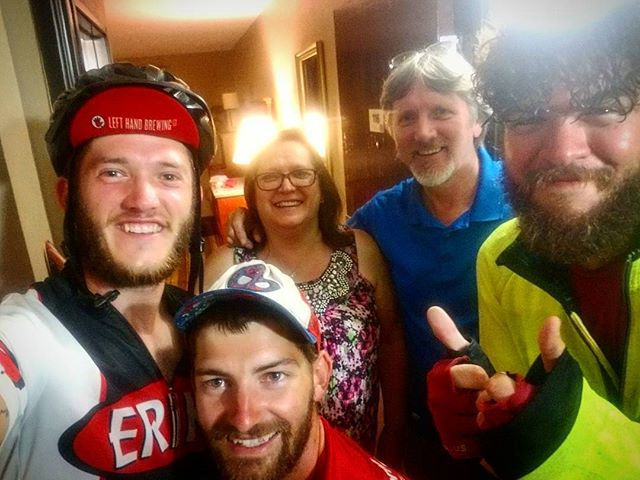 My parents met up with us in Vermont today then were generous enough to get us a hotel tonight in New Hampshire! Thanks to them for being such awesome and  supportive parents!  #PortlandtoPortland #anyonecanbeasuperhero #pancan #pancreaticcancer #wagehope #marvel #crosscountrycycling #touring #cycle #cycling #newhampshire #peopleareawesome