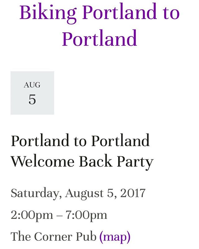 We'll see you this Saturday for our homecoming! Wear your #PortlandtoPortland purple shirt to Corner Pub. #anyonecanbeasuperhero #crosscountrycycling #cycling #pancan #pancreaticcancer #werecominghome