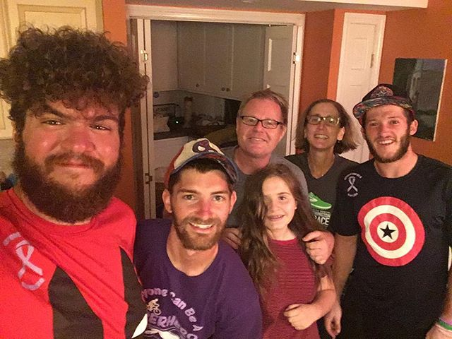 Thanks to the Howlands for hosting us on our last night of the trip, for showing us downtown Durham, and for being top notch ice cream eaters (even though we may have beaten them) #PortlandtoPortland #anyonecanbeasuperhero #pancreaticcancer #pancan #crosscountrycycling #cycling #durhamnh #peoplehelpingpeople