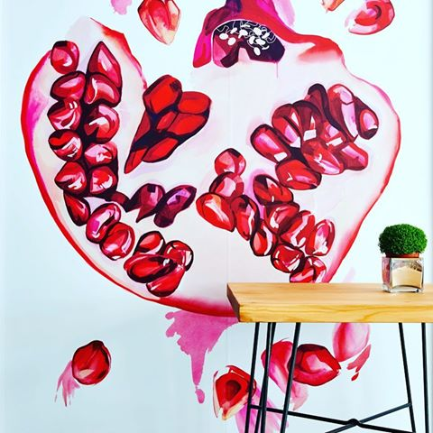 Interior design by Sarah Fortescue and wall art by Sophie Glover.