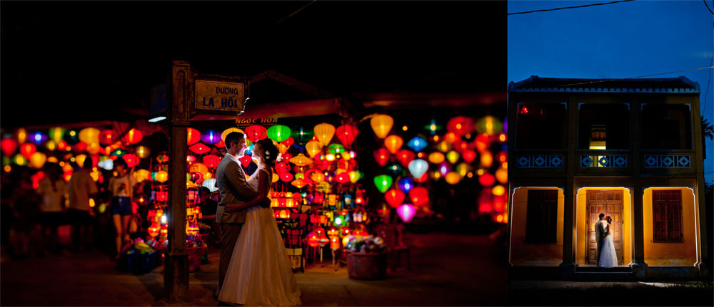 Portrait Shoot in Downtown Hoi An, Vietnam.  Photos by Mott Visuals Weddings
